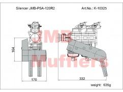 Tlumič PSA-ZDZ 120R2