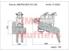 Tlumič PSA-ZDZ 210-J R2