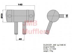 Silencer for Valach VM 85B2-FS