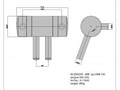 Tlumič pro Fiala VM 120B2-FS, VM 140B2-FS