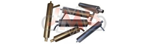 Canister mufflers